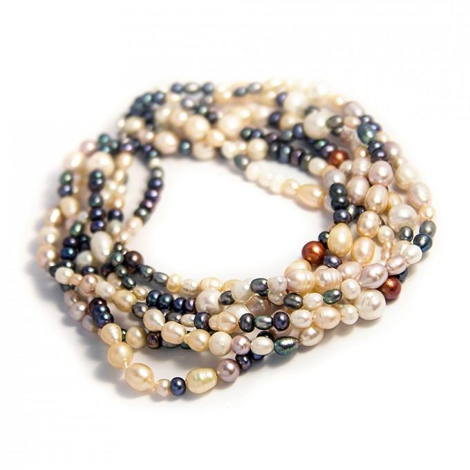 Sea pearls Bohatý perlový náhrdelní